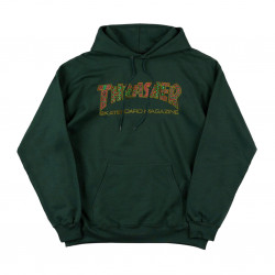 THRASHER, Sweat davis hood, Forest green
