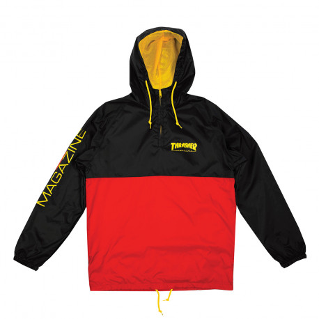 Jacket mag logo anorak - Black red
