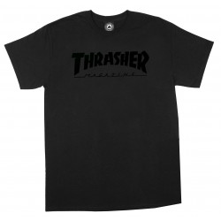 THRASHER, T-shirt magazine logo, Black