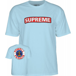 POWELL PERALTA, T-shirt supreme, Powder blue