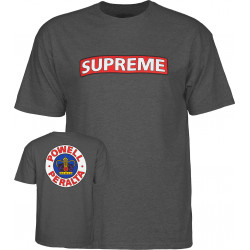 POWELL PERALTA, T-shirt supreme, Heather gray