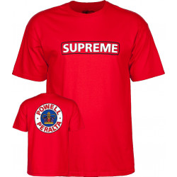 POWELL PERALTA, T-shirt supreme, Red