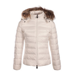 JUST OVER THE TOP, Luxe grand froid capuche fourrure, Blanc