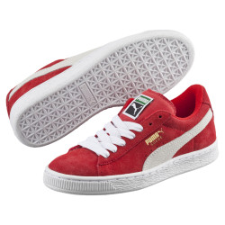 PUMA, Suede jr, Red-white