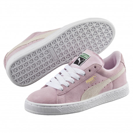Suede jr - Pink lady-white-team gold