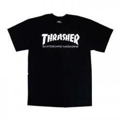 THRASHER, T-shirt youth skate mag, Black