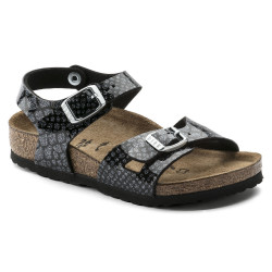 BIRKENSTOCK, Rio bf, Magic snake black-silver
