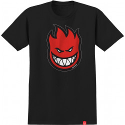 SPITFIRE, T-shirt bighead fill ss black, Red print