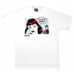THRASHER, T-shirt new boyfriend, White