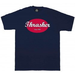 THRASHER, T-shirt oval, Navy