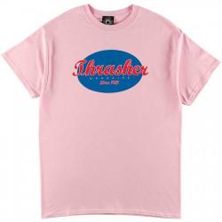 THRASHER, T-shirt oval, Pink