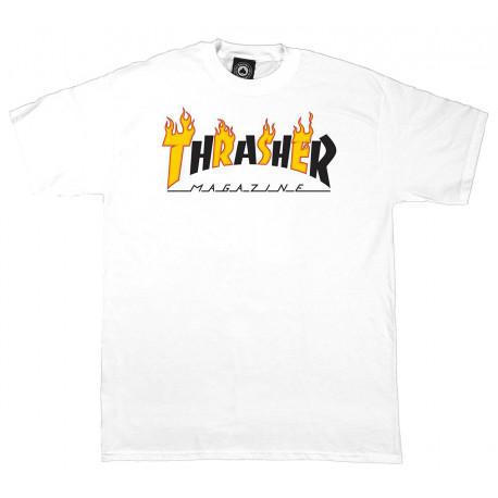 T-shirt flame mag - White