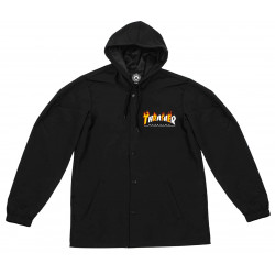 THRASHER, Jacket flame mag coach, Black