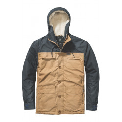 GLOBE, Goodstock blocked parka jacket, Tau