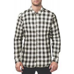 GLOBE, Barkly vintage plaid ls shirt, Off white