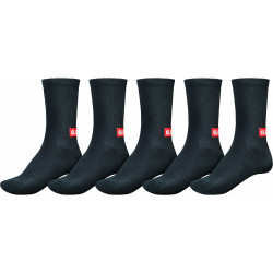 GLOBE, Minibar crew sock 5 pack, Black