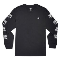 CONVERSE, Cons logo long sleeve tee, Black