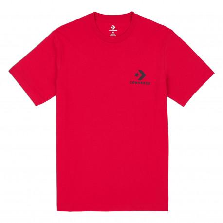 Left chest star chevron tee - Enamel red