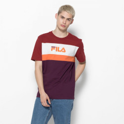FILA, Men aaron tee ss, Potent purple-merlot-bright white-harvest pumpkin
