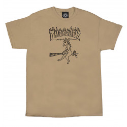 THRASHER, T-shirt witch, Tan