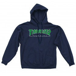 THRASHER, Sweat outlined hood, Navy