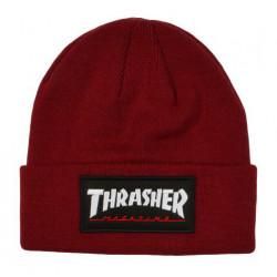 THRASHER, Beanie logo patch, Maroon