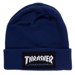 THRASHER, Beanie logo patch, Navy