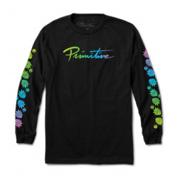 PRIMITIVE, T-shirt r & m ii nuevo gradient ls, Black