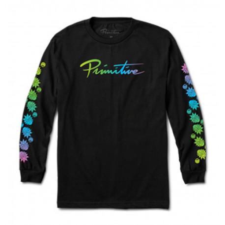 T-shirt r & m ii nuevo gradient ls - Black