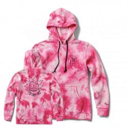 PRIMITIVE, Sweat r & m ii rick tie-dye fleece hood, Pink