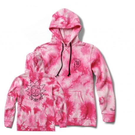 Sweat r & m ii rick tie-dye fleece hood - Pink