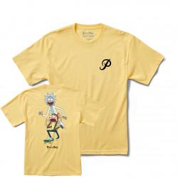 PRIMITIVE, T-shirt r & m ii classic p rnm skate, Banana