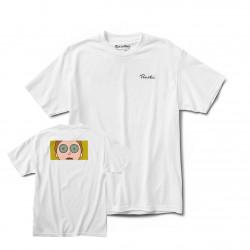 PRIMITIVE, T-shirt r & m ii morty hypno eyes, White