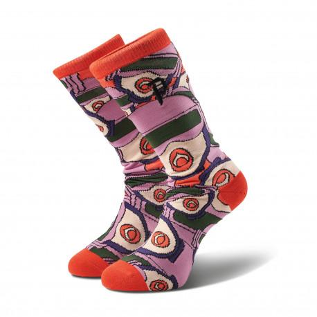 Socks r & m ii gwen allover crew - Red