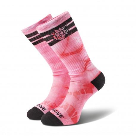 Socks r & m ii rick ringer crew - Pink tie dye