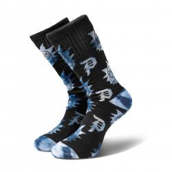 PRIMITIVE, Socks r & m ii rnm crew, Blue tie dye