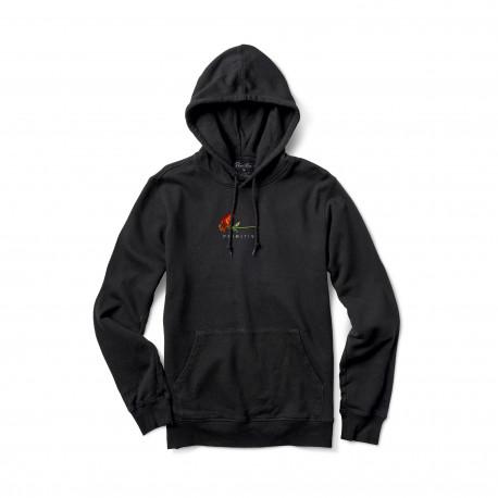 Sweat burning pigment dyed hood - Black