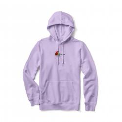 PRIMITIVE, Sweat burning pigment dyed hood, Lavender