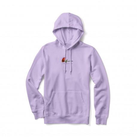 Sweat burning pigment dyed hood - Lavender