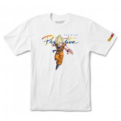 PRIMITIVE, T-shirt dbz nuevo goku saiyan, White