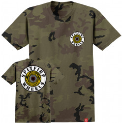 SPITFIRE, T-shirt ss og circle, Camo white yellow red