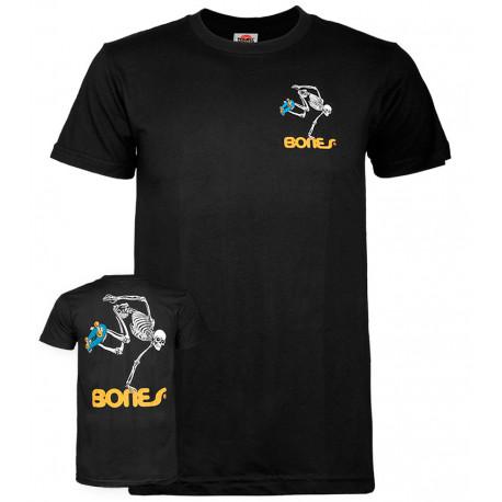 T-shirt skateboard skeleton - Black