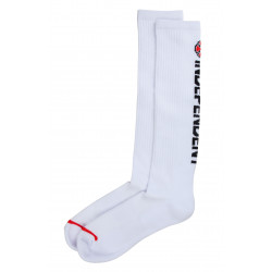 INDEPENDENT, Directional sock, White