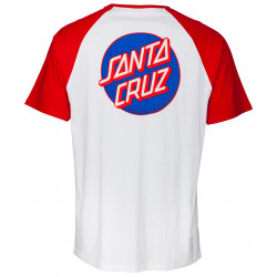 SANTA CRUZ, Dot pocket raglan, Deep red/white