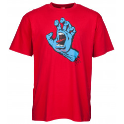 SANTA CRUZ, Screaming hand tee, Deep red