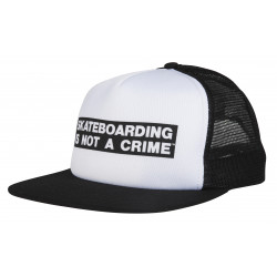 SANTA CRUZ, Not a crime cap, White/black