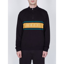 OBEY, Gaze mock neck zip, Black