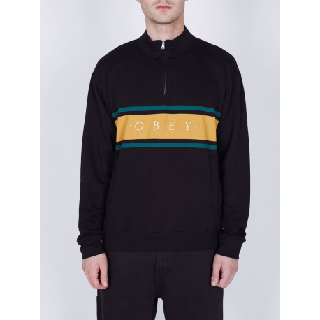 Gaze mock neck zip - Black