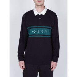 OBEY, Hero classic polo ls, Black