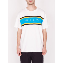 OBEY, Charm classic tee ss, White multi